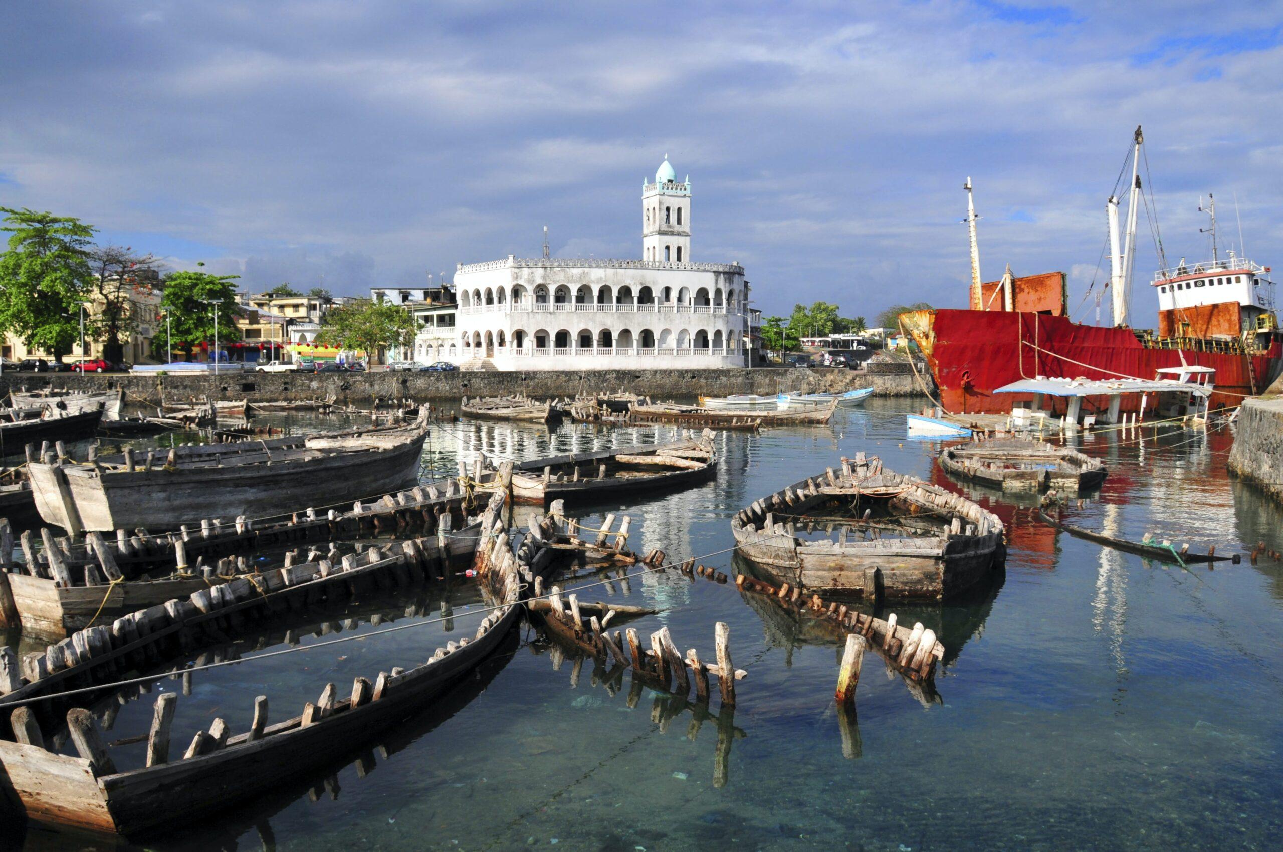 Bank auf den Komoren zu verkaufen