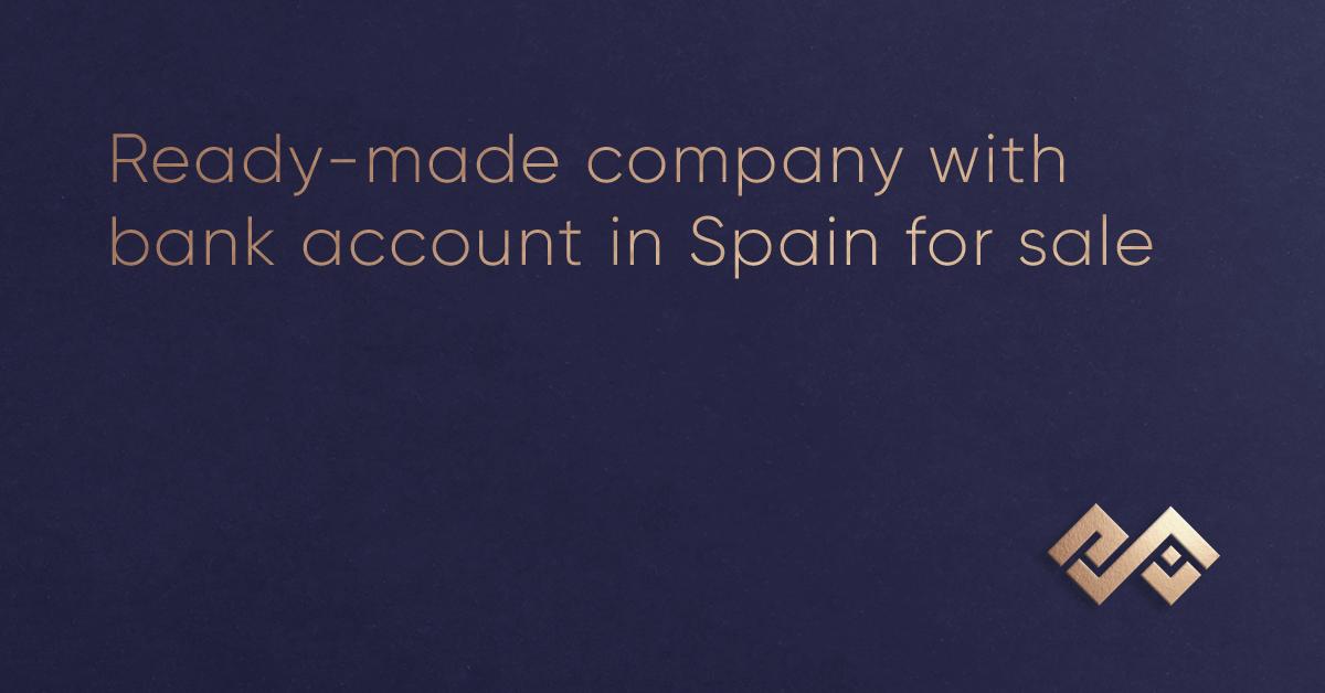बिक्री के लिए स्पेन में बैंक खाते के साथ तैयार कंपनी