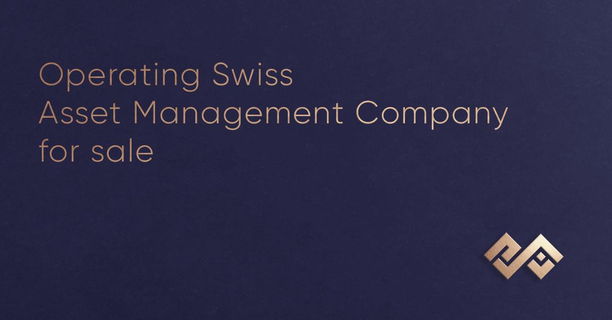 Действующая швейцарская компания по управлению активами на продажу
